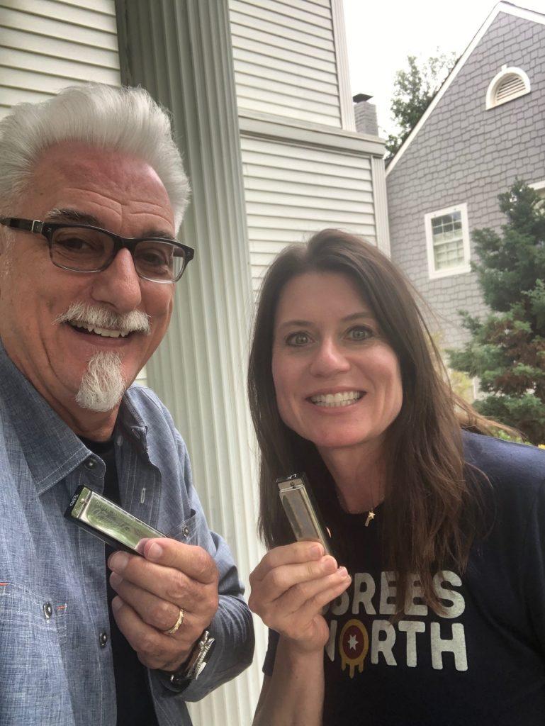Nancy with David Berntson